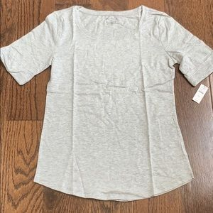 New with tags Talbots metallic silver/ gray top